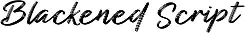 Blackened Script Font