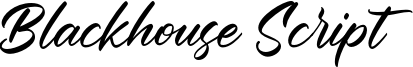 Blackhouse Script Font