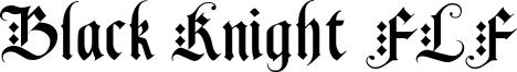 Black Knight FLF Font