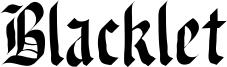 Blacklet Font
