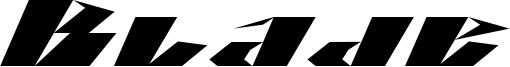 Blade Font