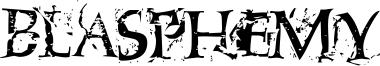 Blasphemy Font