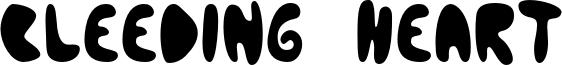 Bleeding Heart Font