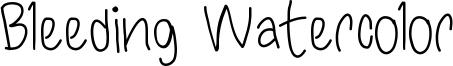 Bleeding Watercolor Font