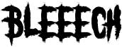 Bleeech Font