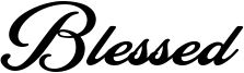 Blessed Font