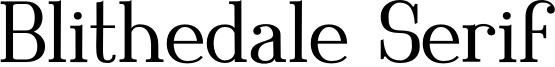 Blithedale Serif Font
