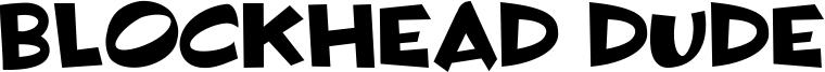 Blockhead Dude Font