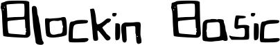 Blockin Basic Font