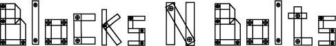 Blocks N Bolts Font