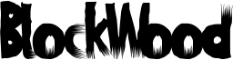 BlockWood Font