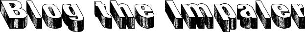Blog the Impaler Font