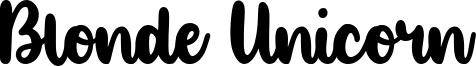 Blonde Unicorn Font