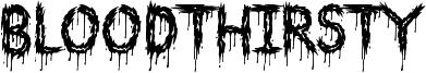 Bloodthirsty Font