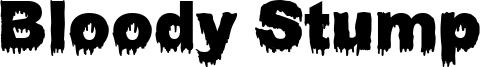 Bloody Stump Font