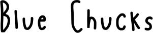 Blue Chucks Font