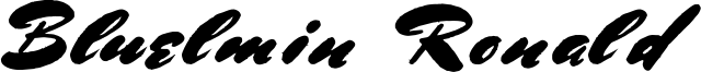 Bluelmin Ronald Font