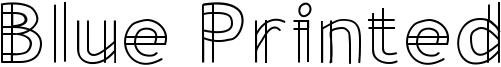 Blue Printed Font
