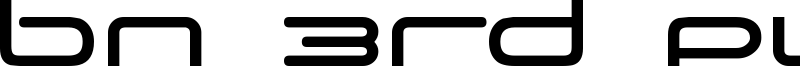 BN 3rd Place Font