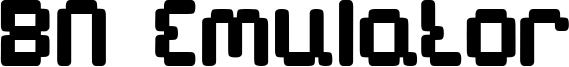 BN Emulator Font