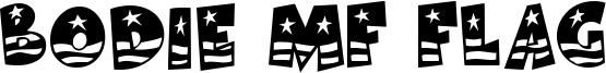 Bodie MF Flag Font