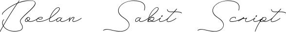 Boelan Sabit Script Font