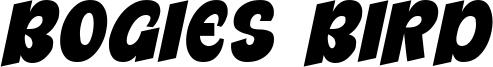 Bogies Bird Font