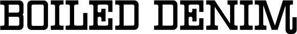 Boiled Denim Font