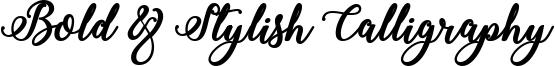 Bold & Stylish Calligraphy Font