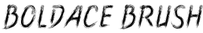 Boldace Brush Font