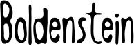 Boldenstein THIN.otf