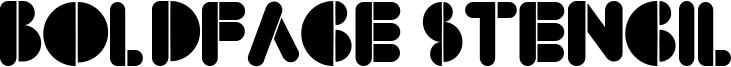 BoldFace Stencil Font