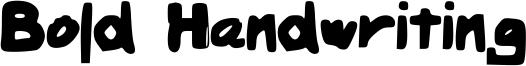 Bold Handwriting Font