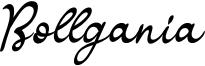 Bollgania Font