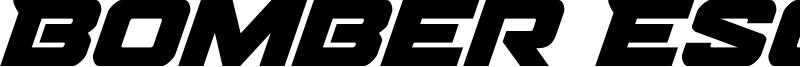 Bomber Escort Font