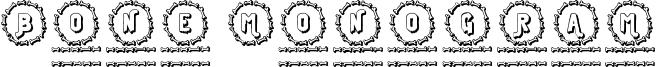 Bone Monogram Font