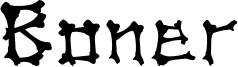 Boner Font