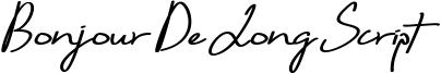 Bonjour De Jong Script Font