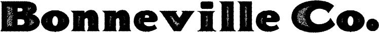 Bonneville Co. Font