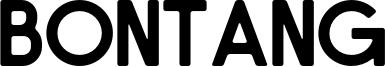 Bontang Font