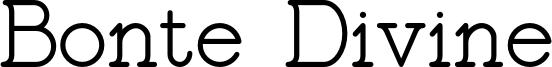 Bonte Divine Font