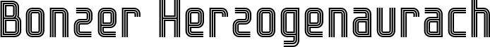Bonzer Herzogenaurach Font