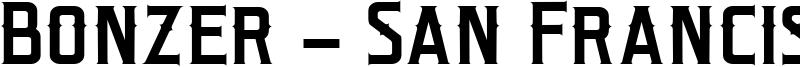 Bonzer - San Francisco Font