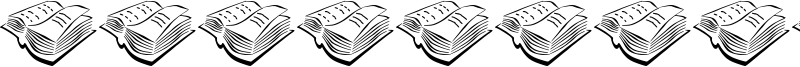 Book Stamps Figure Font