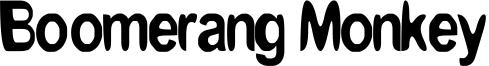 Boomerang Monkey Font