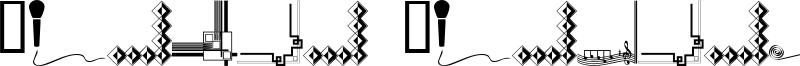 Border Corners Font