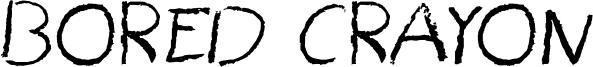 Bored Crayon Font