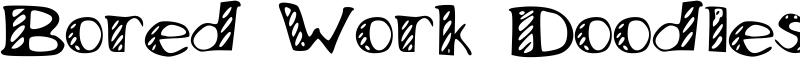 Bored Work Doodles Font