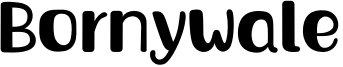 Bornywale Font