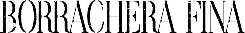 Borrachera Fina Font